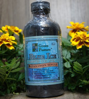 Green Pasture - Blue Ice - Fermented Cod Liver Oil Cinnamon Tingle Flavor (8 oz)